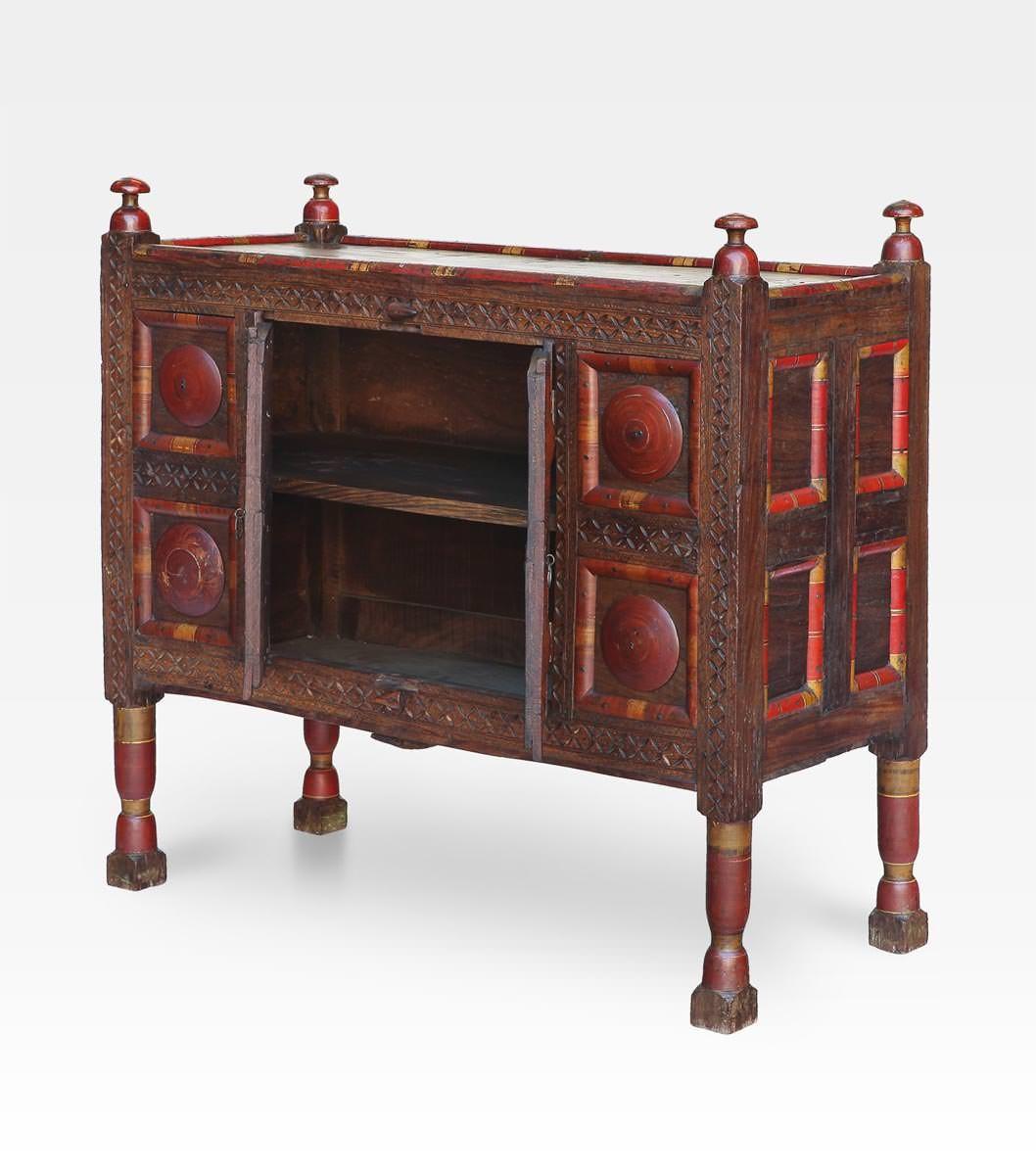Credenza afghana colorata legno di cedro cod 0017 for Credenza colorata
