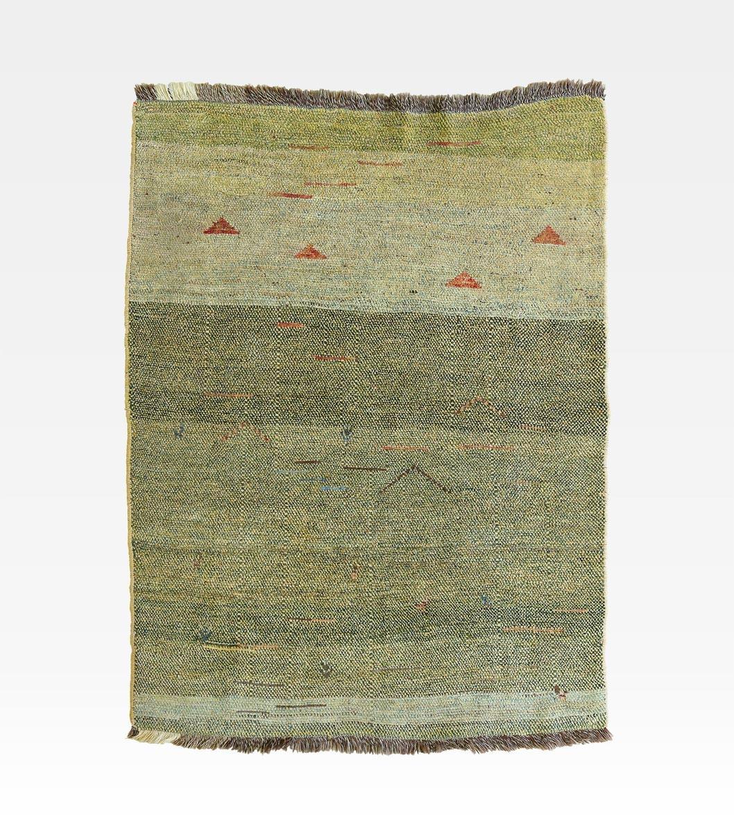 Tappeto iraniano gabbeh verde lana cod 0018 0009 - Valore tappeto persiano ...