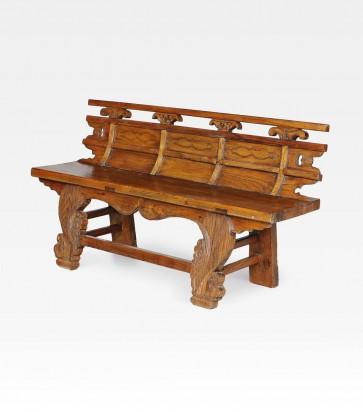 Panchina cinese in legno