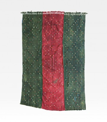 Tappeto kilim verde e rosso