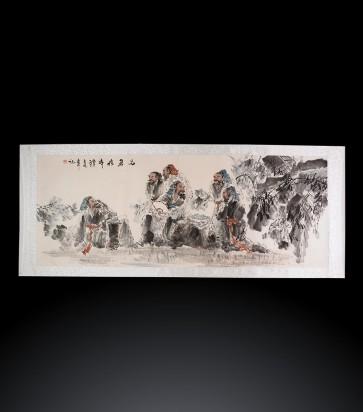Dipinto contemporaneo cinese Figurativo #1