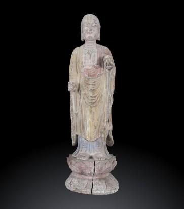 Scultura raffigurante Ananda, discepolo del Buddha, Fine XIX Secolo