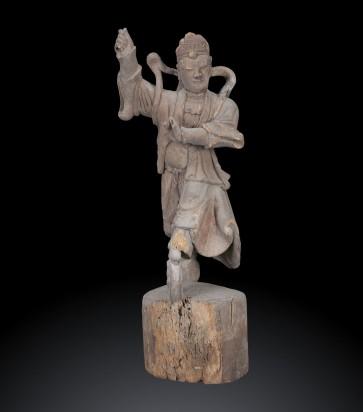 Scultura di un maestro d'arti marziali, dinastia Qing