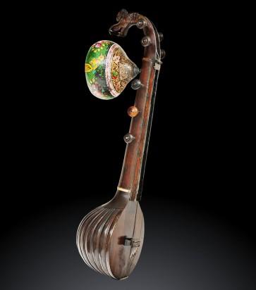 Antico saraswati veena, strumento musicale indiano