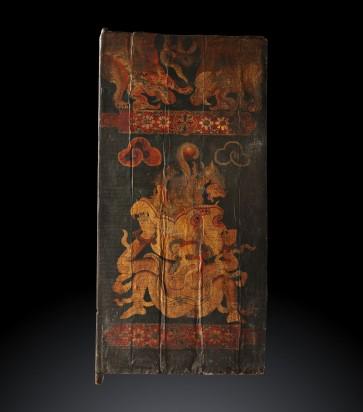 Thangka affissa su legno. Buddhismo esoterico