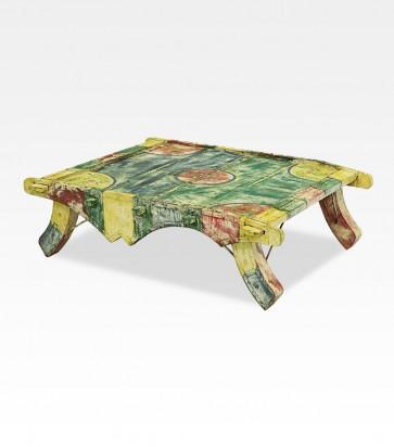 Tavolino indiano colorato in legno di mango - 01