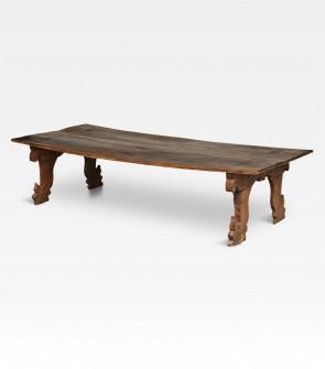 Tavolino indiano intagliato in legno di teak