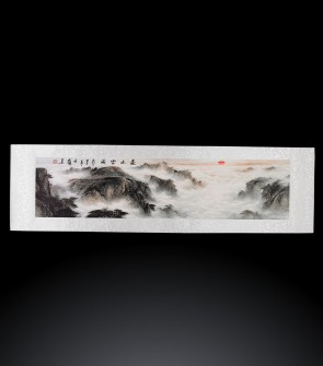 Dipinto contemporaneo cinese Paesaggio #3