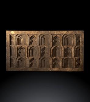 Bassorilievo epoca Moghul con Mihrab di forme diverse