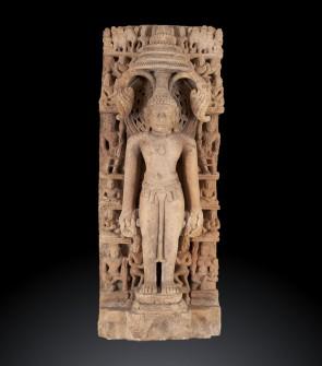 Prezioso altorilievo raffigurante Mahavira Thirtankara