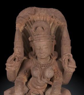 Scultura indiana raffigurante la dea madre Ganga