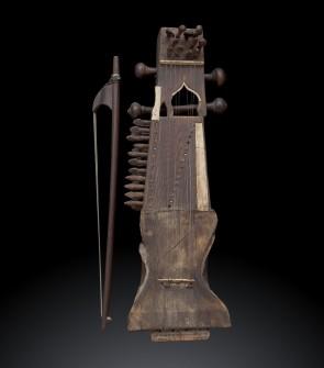 Sarangi, antico strumento musicale indiano ad arco XIX Sec