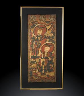 Antico dipinto cinese raffigurante le arti degli uomini del popolo Yao.
